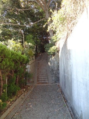 杵宮神社へ向かう道