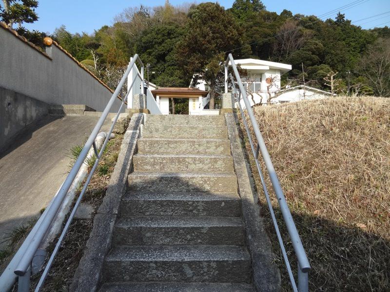極楽寺へ続く階段