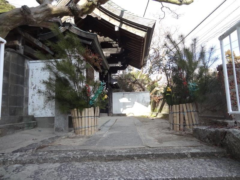 萬福寺入り口にあった門松
