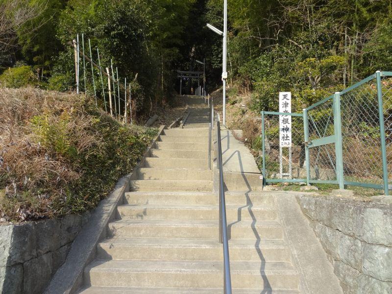 小部天津彦根神社 階段