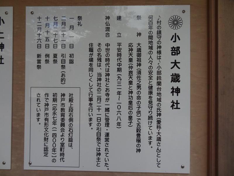 小部大歳神社についての歴史