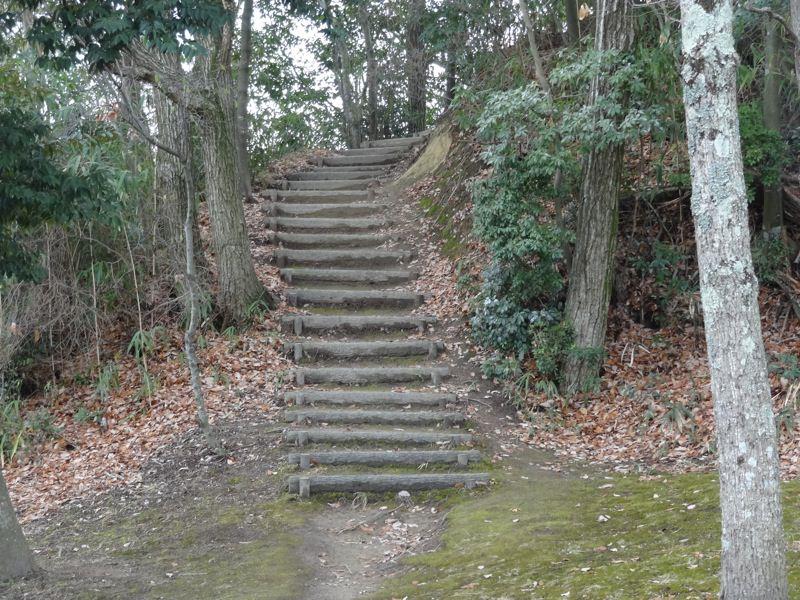 山頂へ続く階段