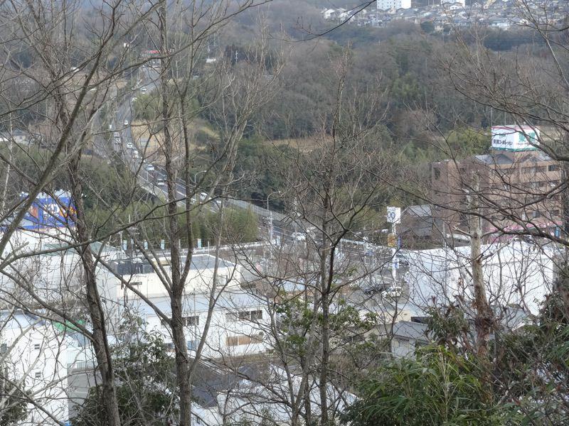 上から見る岡場駅周辺の景色