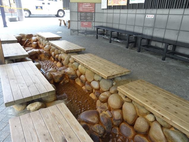 有馬温泉 金の湯の足湯