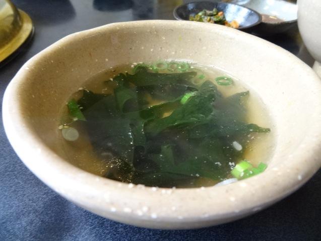 きち太郎 カルビ定食のスープ