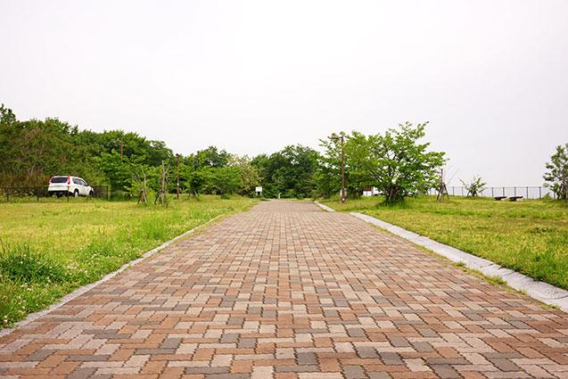 上津公園の展望広場への道