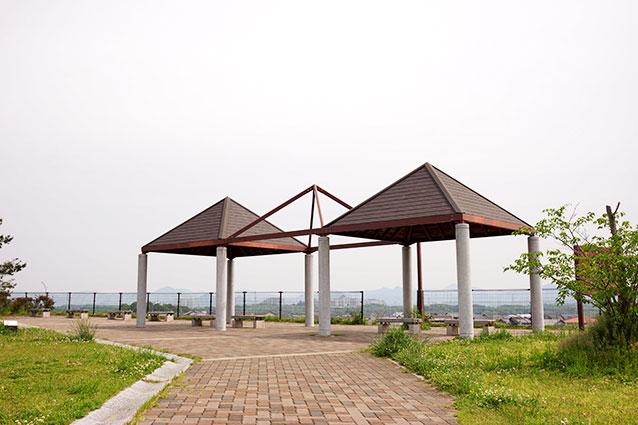 上津公園の展望スペース