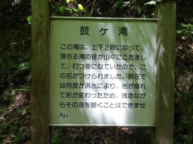 鼓ヶ滝についての案内