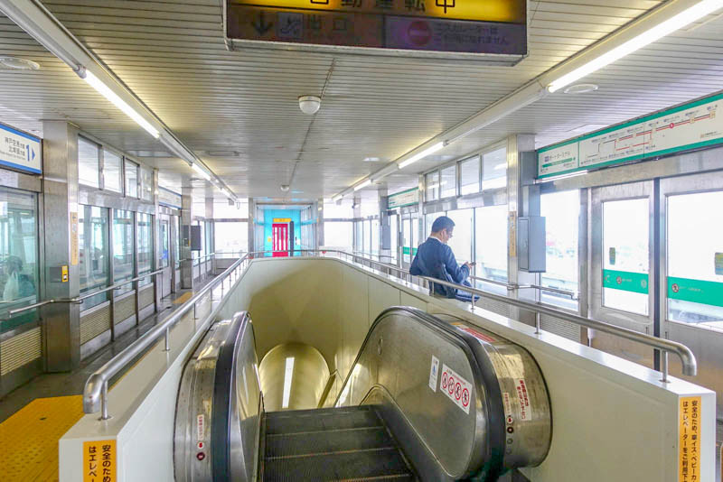 ポートターミナル駅 ホーム