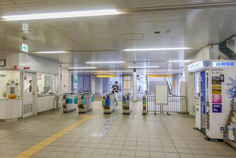 ポートライナー みなとじま駅 改札